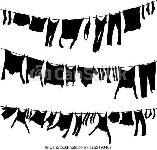 Washing lines - csp2190467