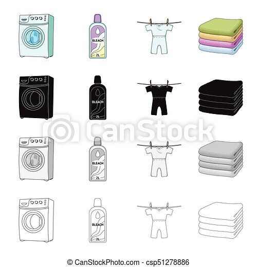 Washing Machine Bottle Of Bleach Drying Childrens Clothes A