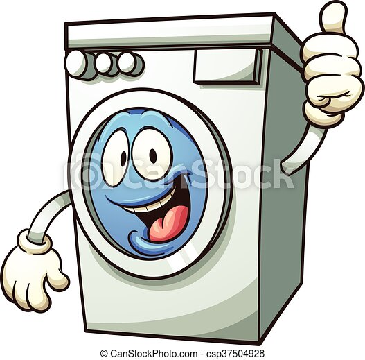 cartoon washing machine vector clip art illustration with vector rh canstockphoto com washing machine and dryer clip art washing machine clipart black and white