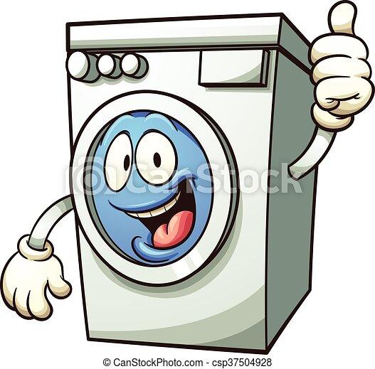 cartoon washing machine vector clip art illustration with vector rh canstockphoto com washing machine clipart black and white washing machine clipart black and white