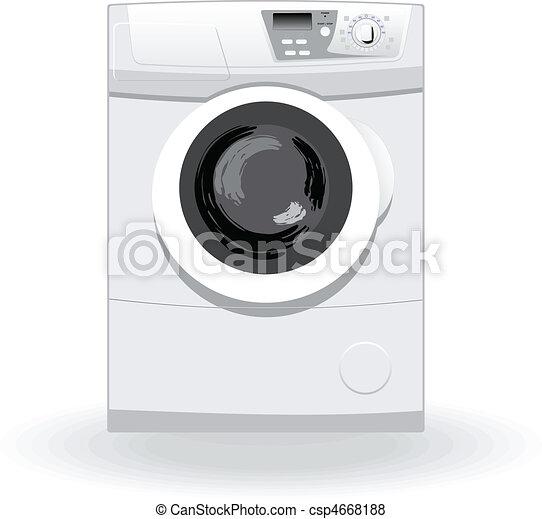 Washing machine vector illustratio - csp4668188