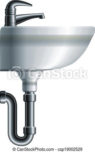 Interior Bathroom Toilet Side View Vector Clipart Vector