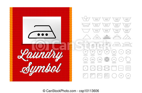 Washing Symbols On Clothing Label Stock Illustration Search