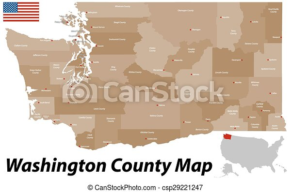 Washington County Map - csp29221247