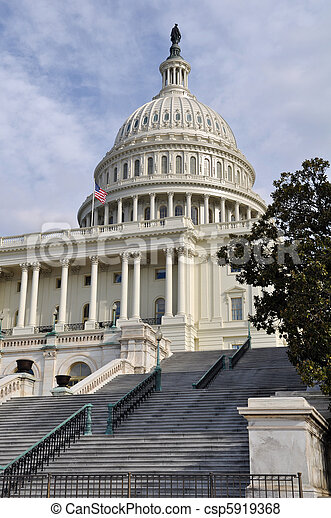 Washington DC Capitol Hill Building - csp5919368