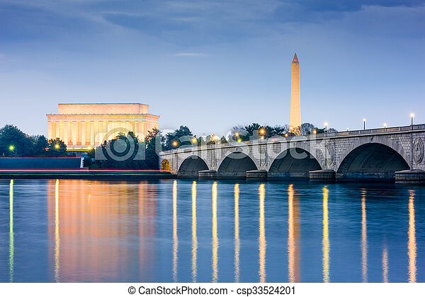 Monumentos de Washington DC - csp33524201