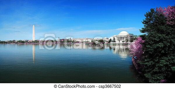 washington dc, panorama - csp3667502
