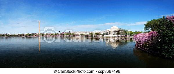 Washington DC skyline panorama - csp3667496