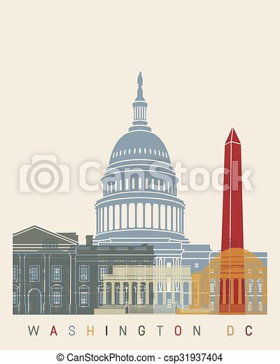 Washington DC skyline poster - csp31937404