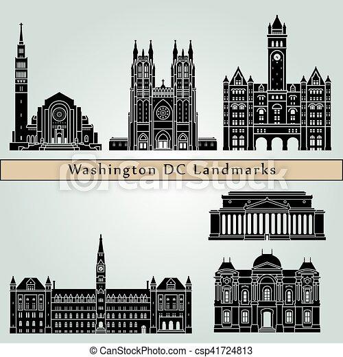 Washington V2 Landmarks - csp41724813