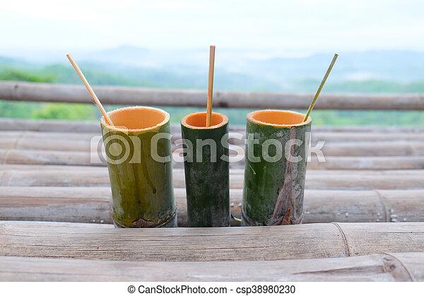Wasser Bambus Trinken Rohr Schoenheit Natur Rohr Wasser