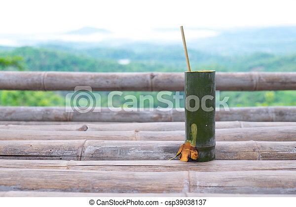 Wasser Bambus Trinken Rohr Wasser Rohr Holz Trinken Bambus