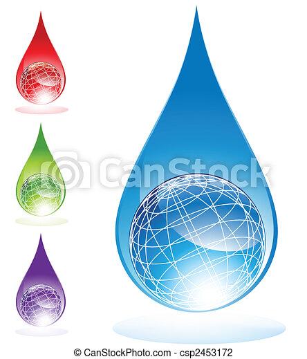 Globe-Wassertropfen - csp2453172