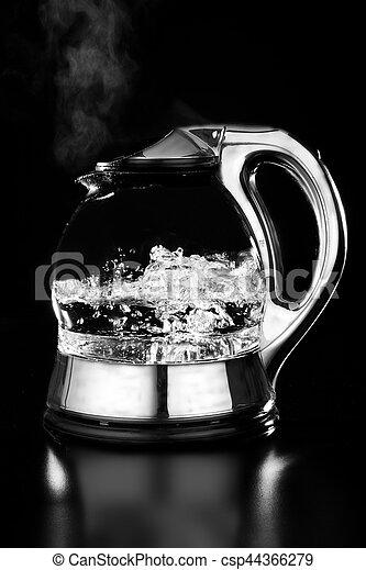 Wasser, kochen, kessel. Wasser, kochen, schwarzer... Bild - Suche ...