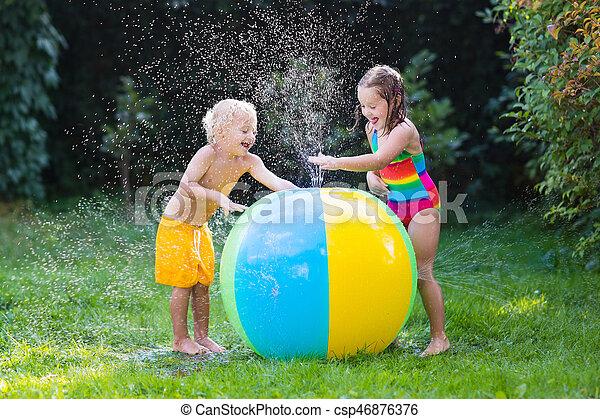 Wasser Spielzeug Spielen Kugel Kinder Sommer Draußen