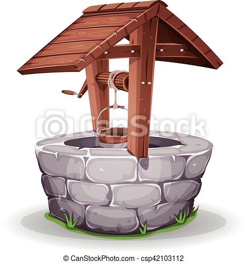 wasser stein holz brunnen wasser stein h lzern wischeimer abbildung seil brunnen. Black Bedroom Furniture Sets. Home Design Ideas