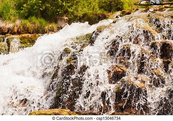 wasserfall, national, auf, park, krka, kroatien, schließen - csp13046734