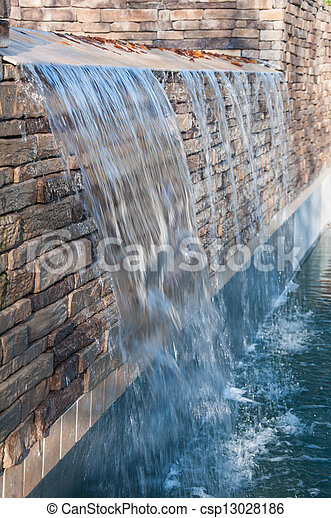Wasserfall Teich
