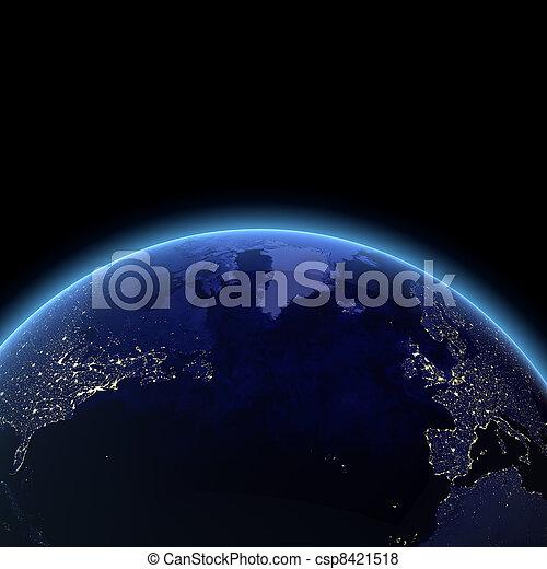 Atlantischen Ozean aus dem All - csp8421518