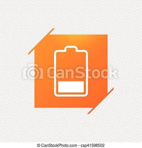 Wasserwaage, batterie, symbol., zeichen, elektrizität, niedrig, icon ...