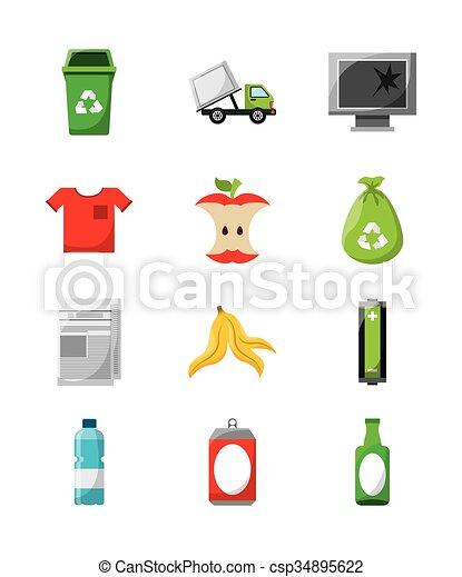 waste concept design  - csp34895622