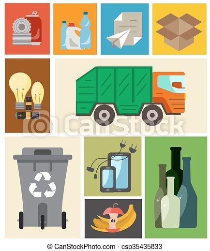 Waste managment flat concept - csp35435833