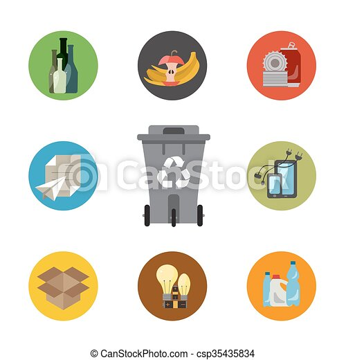 Waste managment flat concept - csp35435834