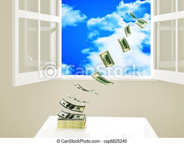 waste money - csp6625240