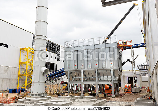 Waste plant outside process storage methane oil organic - csp27854632