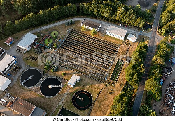 Wastewater treatment plant - csp29597586