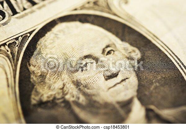 waszyngton, halabarda, dolar, jerzy - csp18453801