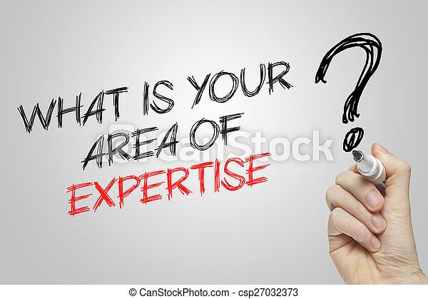 wat, gebied, schrijvende , expertise, hand, jouw - csp27032373