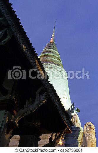 Wat- Phnom Penh, Cambodia - csp2736061