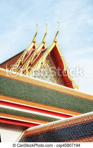 Wat Pho Temple Details - csp45807194