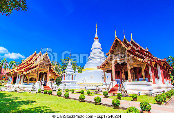 Wat Phra Sing temple Chiang Mai Province Asia Thaila - csp17540224