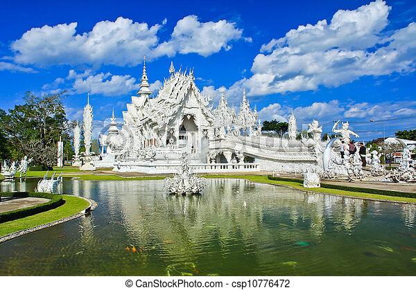 Wat Rong Khun,Chiangrai, Thailand  - csp10776472
