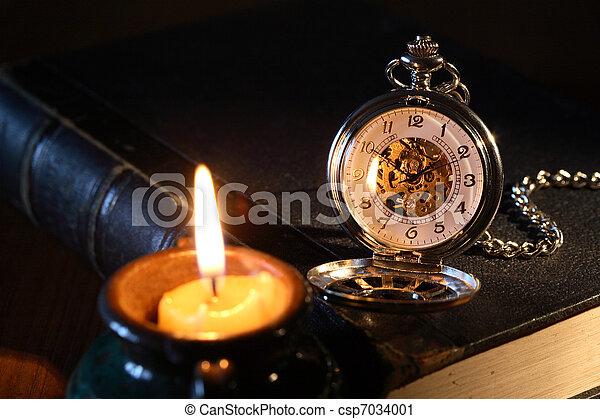 Watch And Candle - csp7034001