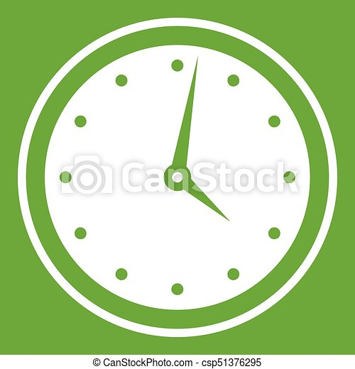 Watch icon green - csp51376295