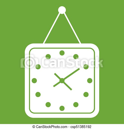 Watch icon green - csp51385192
