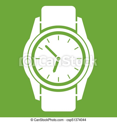 Watch icon green - csp51374044