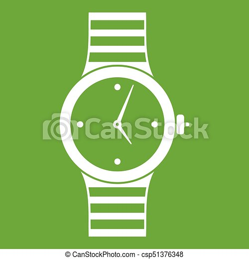 Watch icon green - csp51376348