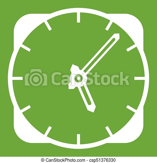 Watch icon green - csp51376330