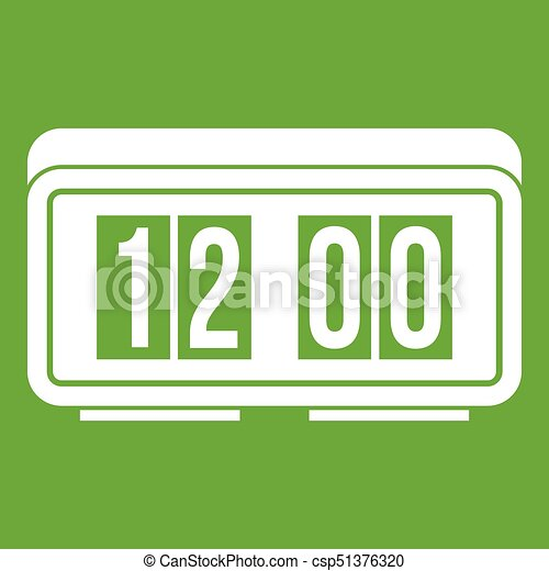 Watch icon green - csp51376320