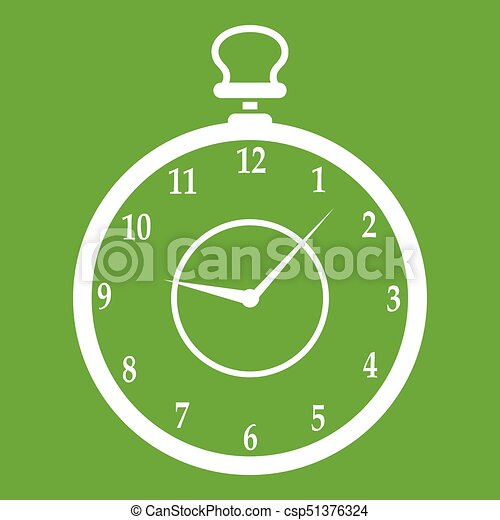 Watch icon green - csp51376324
