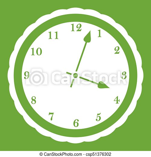 Watch icon green - csp51376302