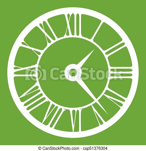 Watch icon green - csp51376304