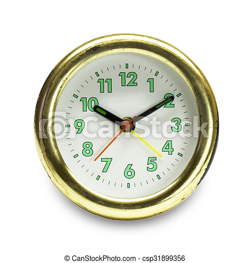 Watch insulated on white background - csp31899356