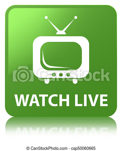 Watch live soft green square button - csp50060665