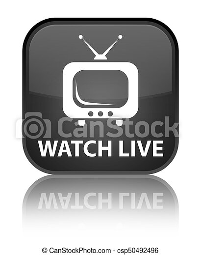 Watch live special black square button - csp50492496