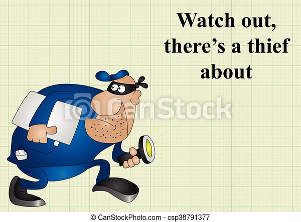 Watch out there is a thief about - csp38791377
